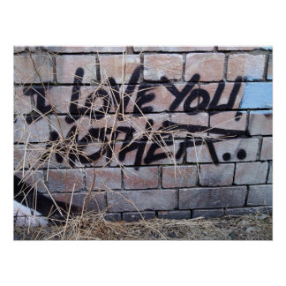 I love you mother grafitti poster