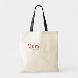 I Love You Mum Budget Tote Bag