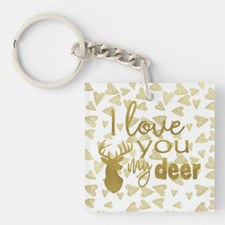 I Love You My Deer Key Ring