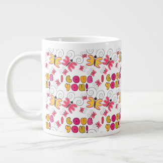 """I love you"" note, best gift ideas Giant Coffee Mug"