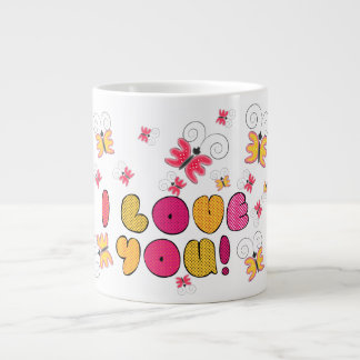 """I love you"" note, best gift ideas Large Coffee Mug"