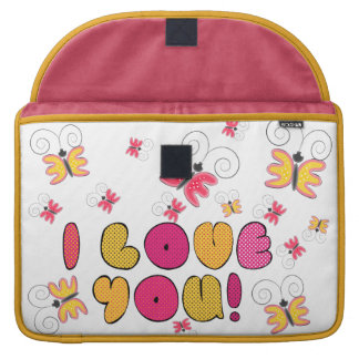 """I love you"" note, best gift ideas MacBook Pro Sleeve"