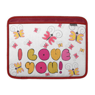"""I love you"" note, best gift ideas MacBook Sleeves"