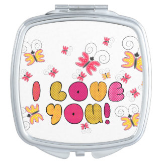 """I love you"" note, best gift ideas Mirror For Makeup"