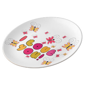 """I love you"" note, best gift ideas Porcelain Plates"