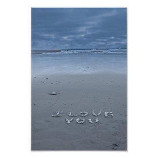 I Love You On The Beach Photo Print