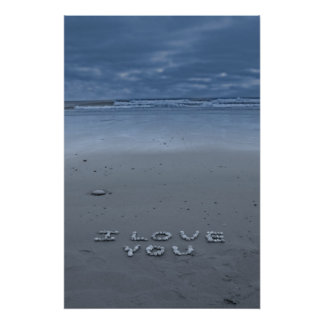 I Love You On The Beach Poster