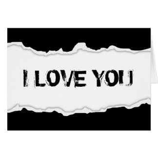 i love you page rip stationery note card