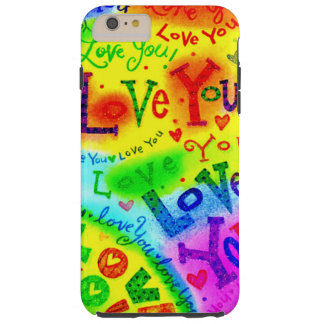 I LOVE YOU Painting Tough iPhone 6 Plus Case