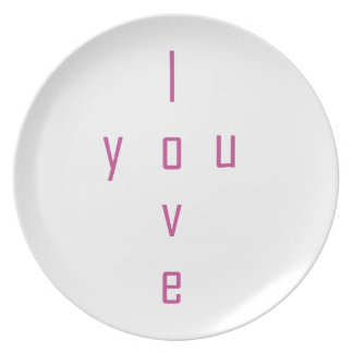 I love you party plates