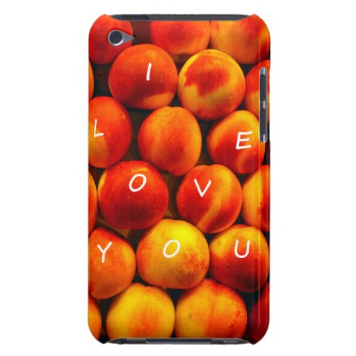 I Love You Peaches iPod Touch Cases