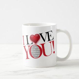 I Love You, photo-template - Customised Mugs