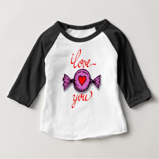 I Love you (pink candy) Baby T-Shirt