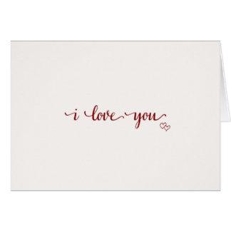 I Love You, plain & simple Card