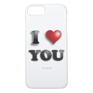 I LOVE YOU!!! Positive Message Good Happy Feelings iPhone 8/7 Case