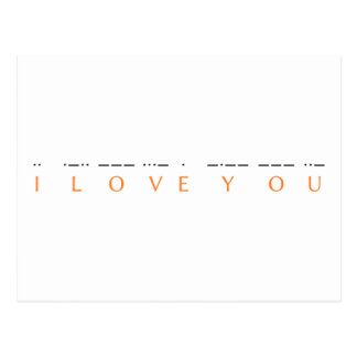 I love you ·· ·-·· --- ···- · -·-- --- ··- postcard