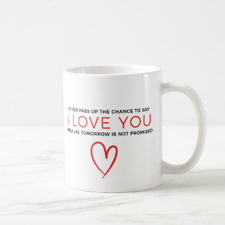 I Love You Red Heart Quote Typography Mug