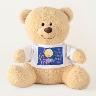 I Love You Romantic Moon Gazing Couple Teddy Bear