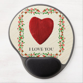 I love you rose frameworks with heart gel mouse pad