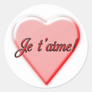 I Love You Round Sticker