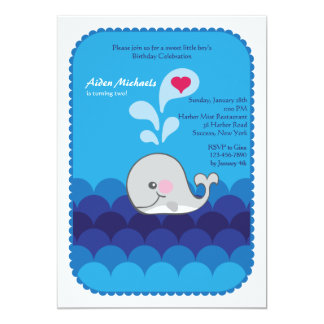 I Love You Said The Whale Invitation