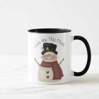 I love you snow much mug