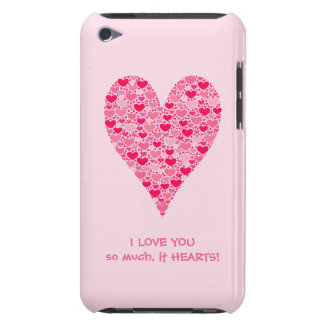 I love you so much it hearts Tiny Hearts Big Heart Barely There iPod Covers