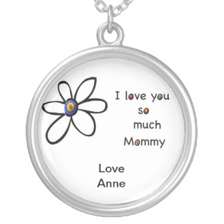 I love you so much Mommy Silver Plated Necklace