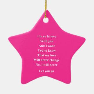 I love you so Valentine's day Ceramic Star Decoration
