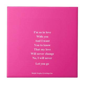 I love you so Valentine's day Small Square Tile
