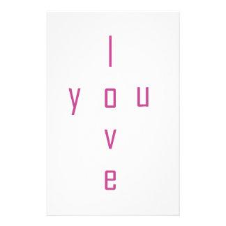 I love you stationery