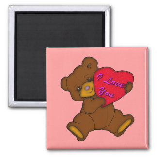 """I Love You"" Teddy Magnet"