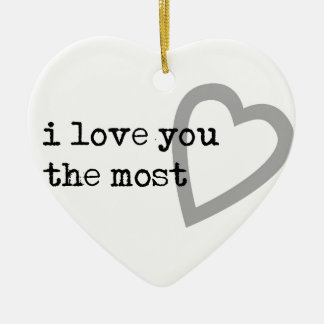 i love you the most cute heart ceramic heart decoration
