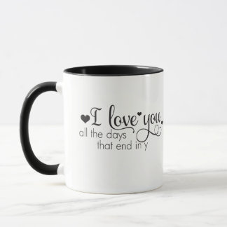 """I Love You"" themed mug"