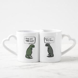 """I love you this much"" drinkware Coffee Mug Set"