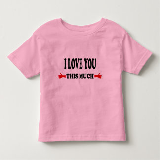 I love you this Much Open Arms Tee Shirt