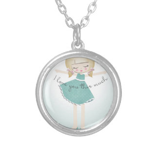 I Love You This Much Round Pendant Necklace