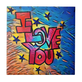 I Love You Tile