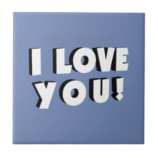 I love you! tile