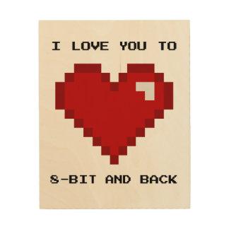 I Love You to 8-bit and Back Gamer Nerd Art