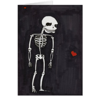 I Love You To The Bone Note Card