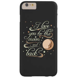 I Love You To The Moon And Back Black Barely There iPhone 6 Plus Case
