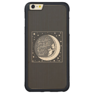 I Love You To The Moon And Back Carved® Maple iPhone 6 Plus Bumper Case
