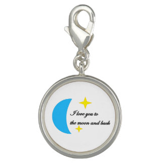 I love you to the moon and back charm braclet