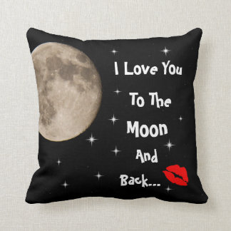 I Love You To The Moon And Back Cushion