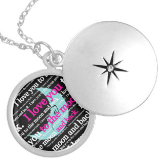 I Love You to the Moon and Back Gifts Round Locket Necklace