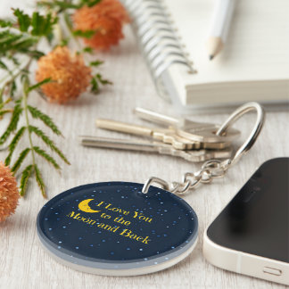 I Love You to the Moon and Back Key Ring