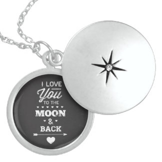 I Love You To The Moon And Back Locket Necklace