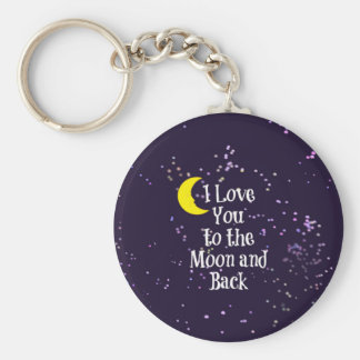 I Love You to the Moon and Back - Man in the Moon Key Ring