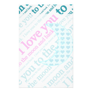 I Love You to the Moon and Back Mothers Day Gifts Stationery